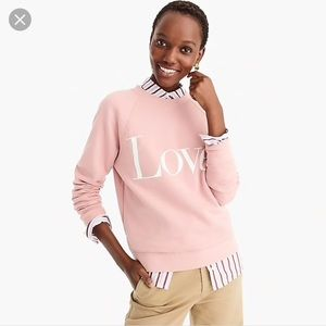 J. Crew Love. Blush sweatshirt Large